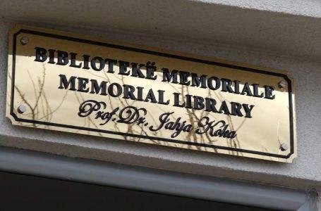 Prof. Dr. Jahja Kokaj, Biblioteka Memoriale