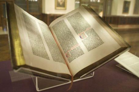 Bibla e parë e shtypur në pllaka metalike para 566 vjetësh