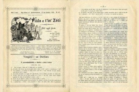 """""""Fiala dhe t'in'Zoti"""", 109 vite nga revista e të dielës arbëreshe"""