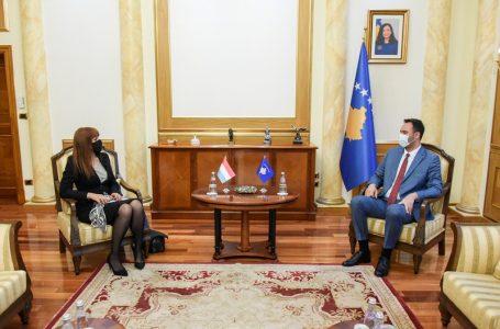 Konjufca takohet me ambasadoren Gomes, flasin për ardhjen e investitorëve të Luksemburgut në Kosovë