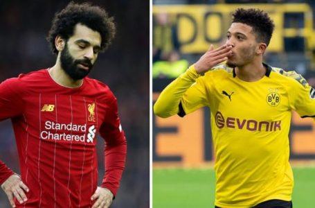 Liverpool do provojë të nënshkruajë me Jadon Sancho nëse Mohamed Salah largohet gjatë verës