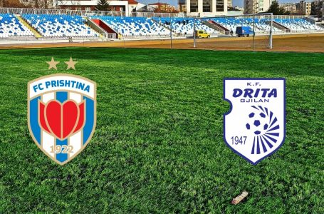 Drita – Prishtina, formacionet zyrtare