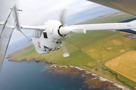 Aeroplani me energji elektrike u sprovua mbi Orkney të Skocisë