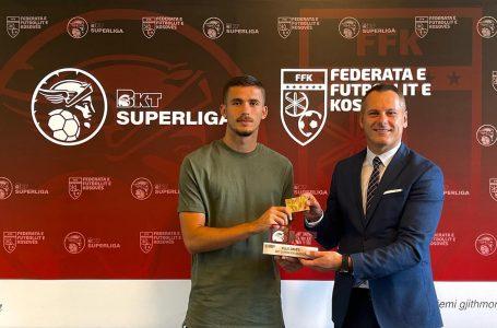 Ardit Tahiri nga FC Drita, shpallet ylli i javës në Superligë