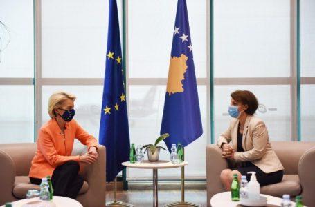 Gërvalla dhe Ursula von der Leyen flasin për rrugëtimin e Kosovës drejt BE-së