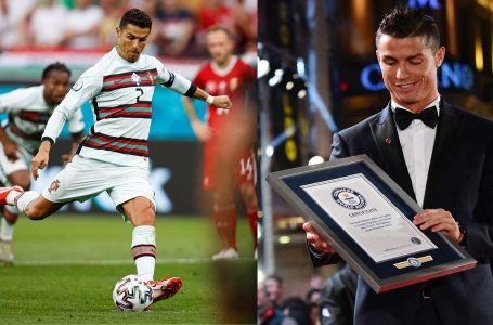 "Cristiano Ronaldo në librin e rekordeve ""Guinness"""