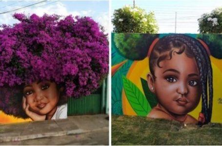 Artisti nga Brazili përdor pemët si 'flokë' për të krijuar portrete mahnitëse në mure