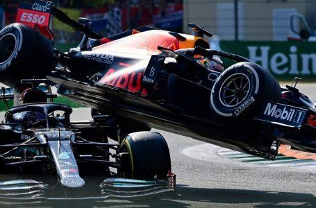 Formula 1, aksidentohen Verstappen dhe Hamilton