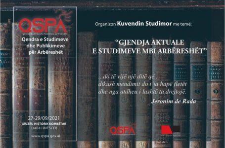 Me 27 shtator mbahet Kuvendi i parë ndërkombëtar mbi studimet për arbëreshët
