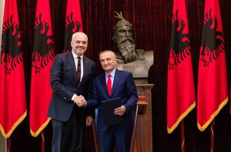 Presidenti Meta dekreton emërimin e Edi Ramës si kryeministër të Shqipërisë