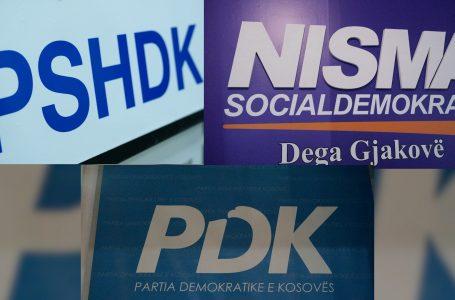PSHDK, NISMA DHE PDK në Gjakovë flasin për rezultatet e para të terenit