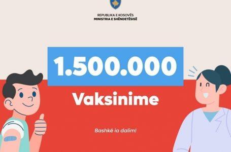 1 milion e gjysmë vaksina janë administruar në Kosovë