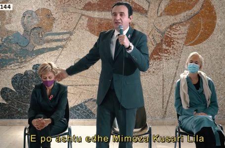 Kurti: Gjakova vendos për ndryshim, për transformim e për progres, i cili e ka numrin 144 e emrin Mimoza Kusari-Lila- E SPONSORIZUAR